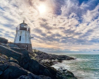 Castle Hill Lighthouse Newport RI - New England-Photo print by Shawn Pearce