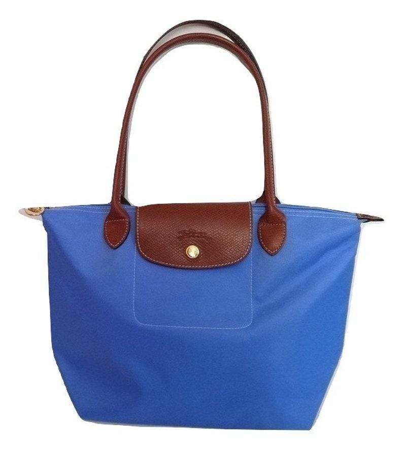 NEUF Authentique Longchamp Le Pliage Sac porté épaule Nylon S couleur Bleu