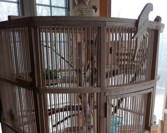 Wooden bird cage | Etsy