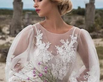 28e491709ae6 Bohemian Princess 'Adeline' Lace & Tulle Wedding Dress
