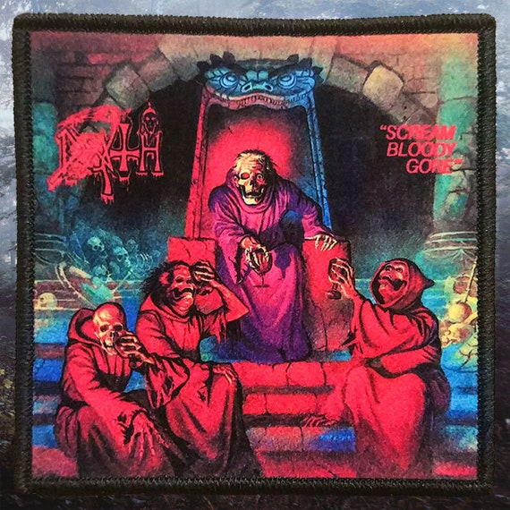 Death Scream Bloody Gore Patch Album Art Metal Band Music Woven Sew On Applique