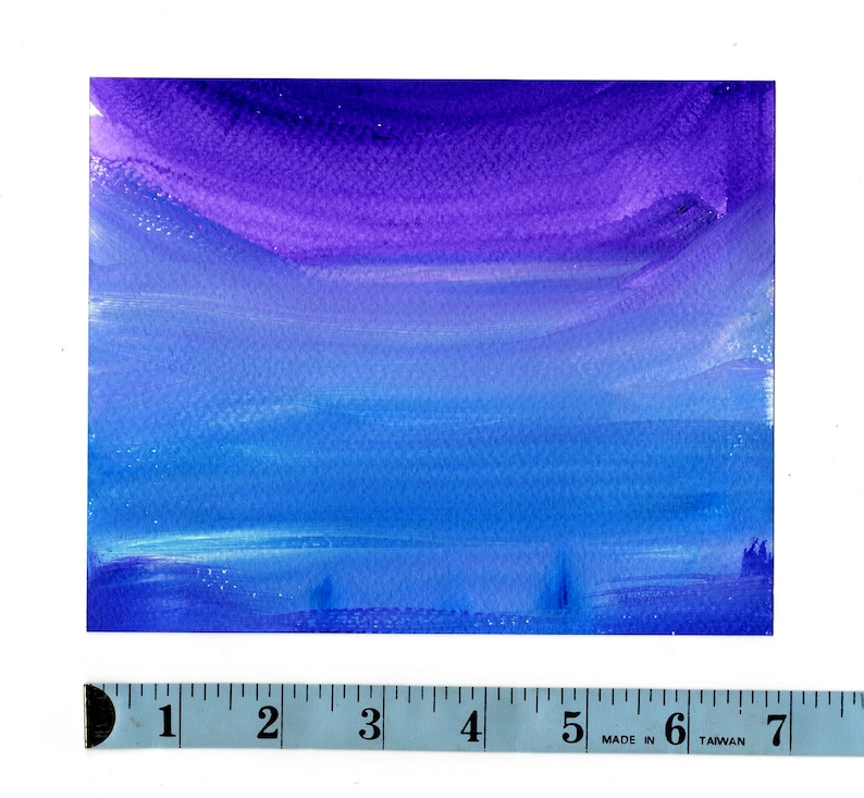 Hand Painted Water Color Paper Purples