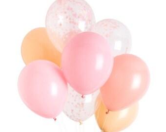 Pink Coral & Blush Balloons