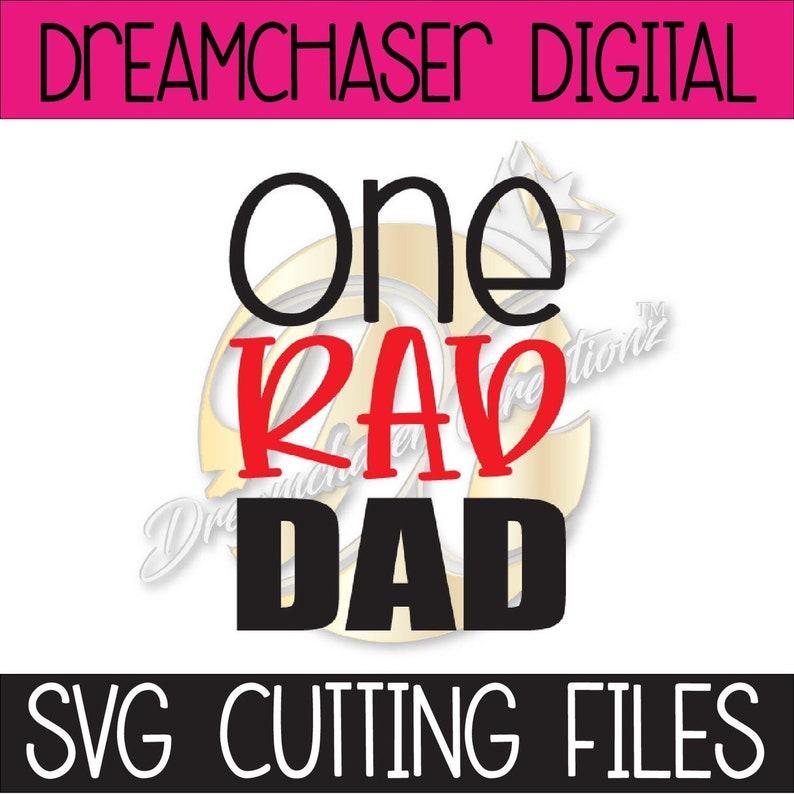 One Rad Dad Svg Etsy