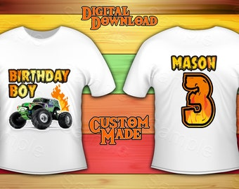 bfcaf68327cd Monster Truck Shirt Iron On Transfer