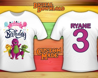 8f8f95b089 Barney birthday shirt | Etsy