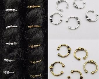 Dreadlock Dread Haar Braid Styling Schmuck Perlen Ring Manschette Rohr Clip 100