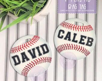 ea89856525ec Baseball bat bag tag   Etsy