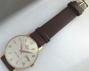 f214c4753f97 17 Jewels Swiss hizo algon Super shock mens vitnage reloj