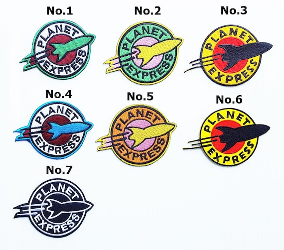 Futurama Planet Express embroidered iron on patch retro vintage style applique