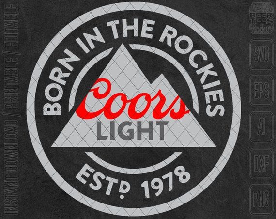 Unofficial Coors Light Beer Born In The Rockies Svg Dxf Png Etsy