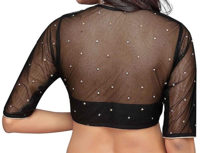 Black Raw Art Silk Non Padded Blouse New Indian Designer Readymade Blouse For Bridesmaid Wear,Party Wear Saree Choli Top Tunic Sari Blouse