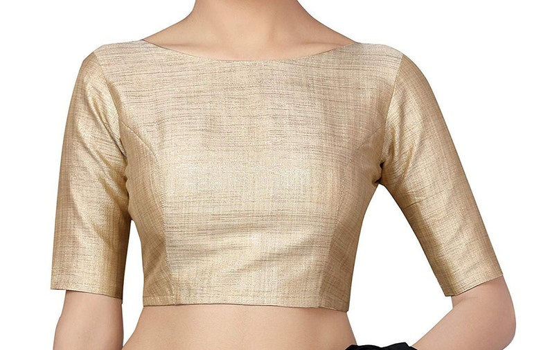 Indian Traditional Art Silk Pink Thread Embroidered Work Stitched Readymade Blouse For Women Party Wear Choli Top Tunic Designer Blouse