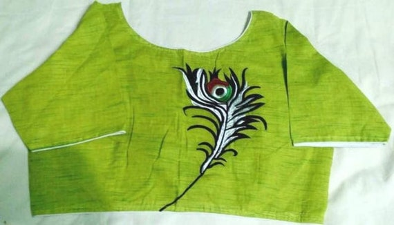 Feather Handcrafted Embroidered Cotton Stitched Re