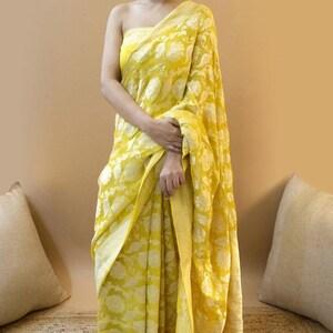 Beautiful Bhagalpur silk Kantha work Saree With Unstitched Running Blouse for Women Wear Wedding Wear Party Wear Sari