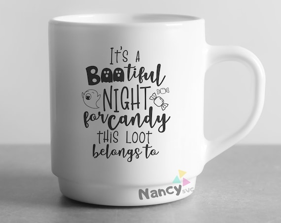 It S Bootiful Night For Candy Halloween Loot Bag Svg Cut Etsy