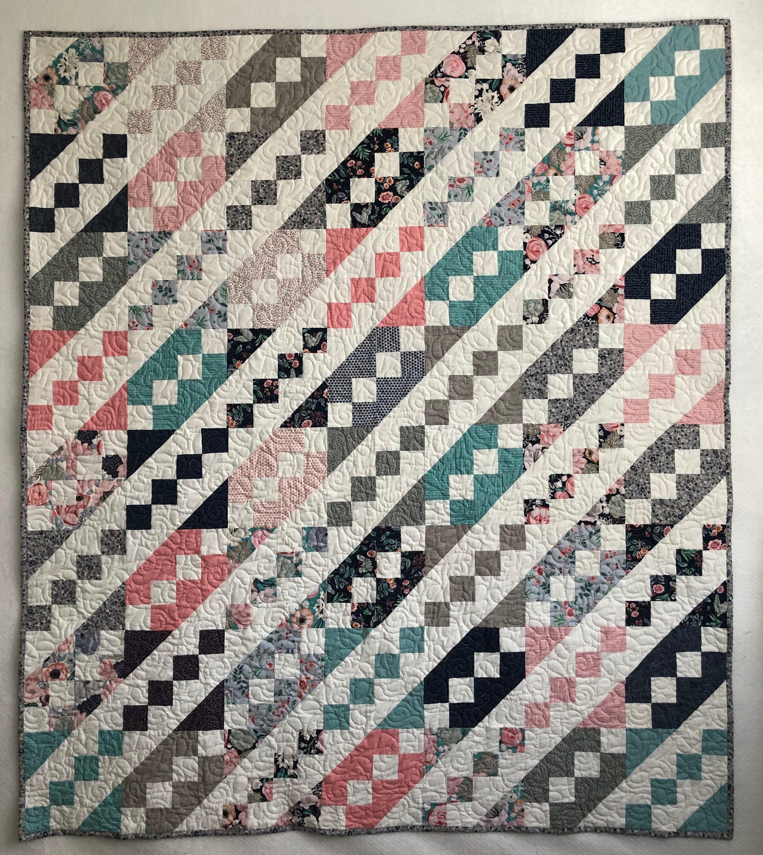 Jane's Ladder Handmade Quilt 54 x 61   Etsy