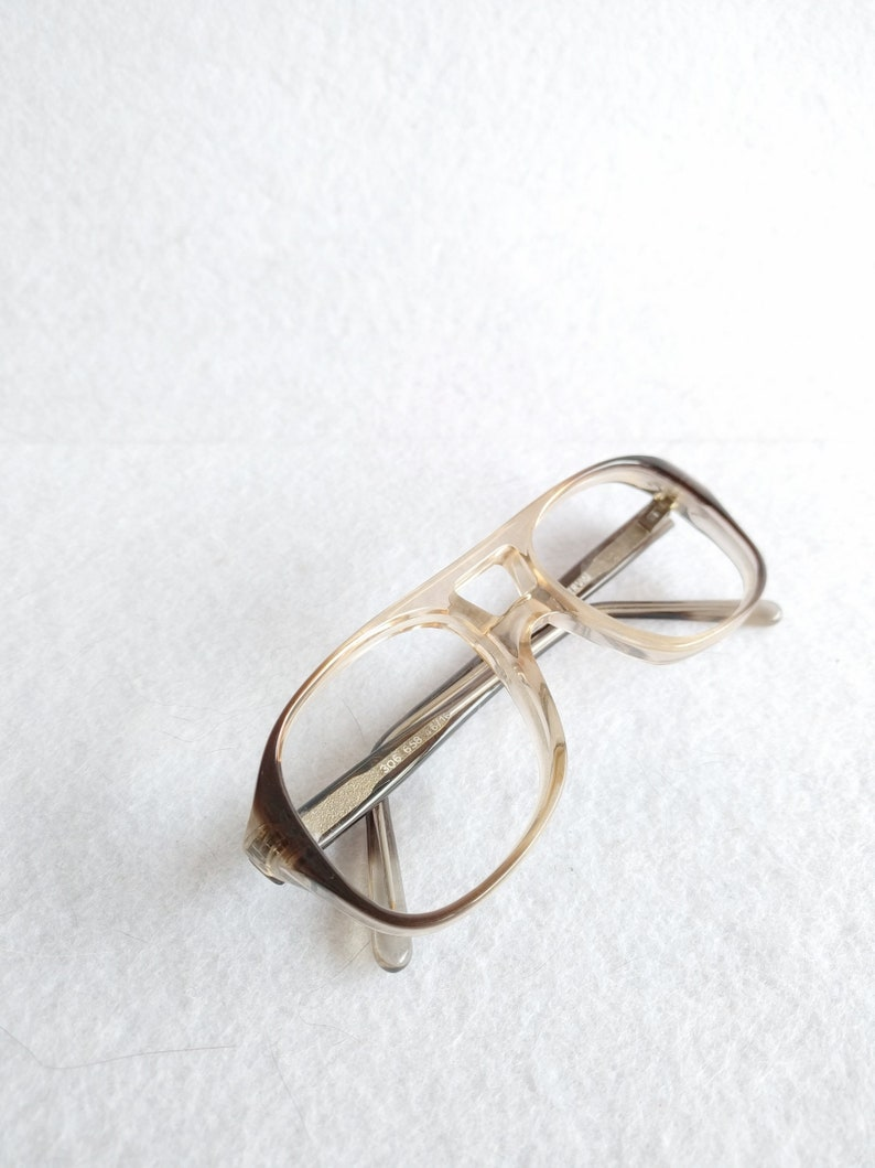 Deadstock kid/'s vintage brown and clear 1980 aviator prescription frames NEW