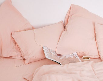 4784fd5950d Peach Pink Bedding Linen Set