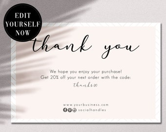 1877457e4af Thank you code card | Etsy