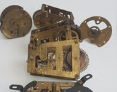 16. Collection of clock mechanisms, steampunk materials for arts and craft
