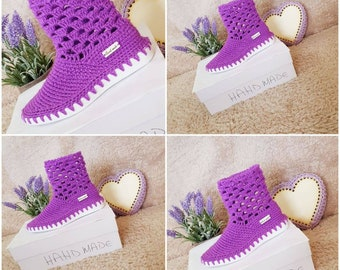 ba4c4211f02 Handmade crochet shoes