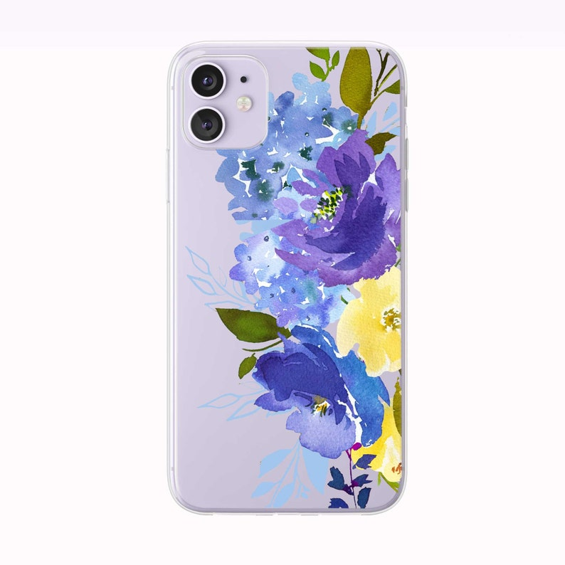 Blue and Yellow Bouquet iPhone Case from Tiny Quail