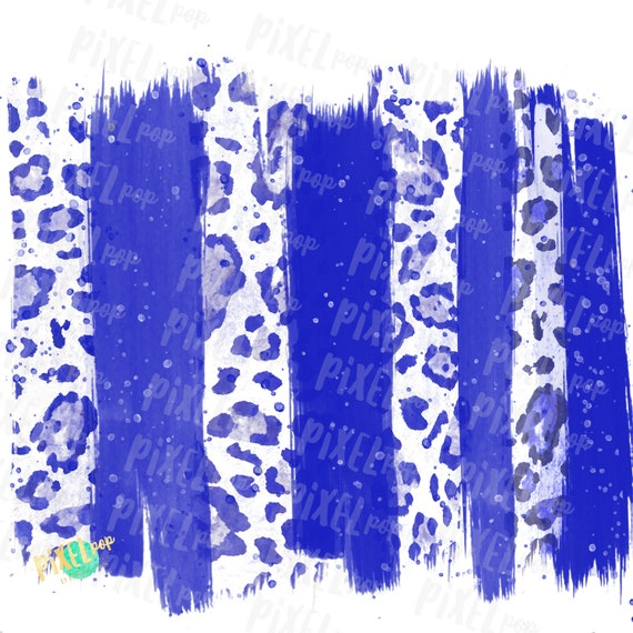 Royal Blue And White Paint Stroke Background Hand Drawn Etsy
