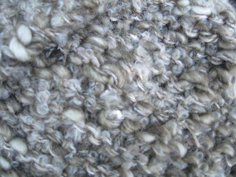bronze green ecru and beige Outlander-inspired wool snood