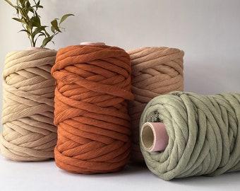 12mm Chunky Single Strand Cotton String, Macrame Cord