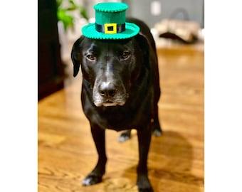 SALE*Gorgeous Hand Crochet Saint Patricks Day Hat For small Dog Or Kitten