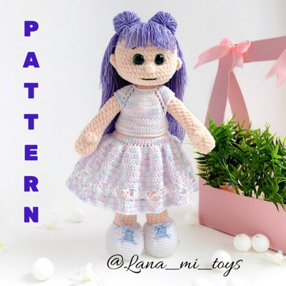 Sweet Fairy Dolls Amigurumi Crochet Pattern (Easy Crochet Doll ... | 570x570