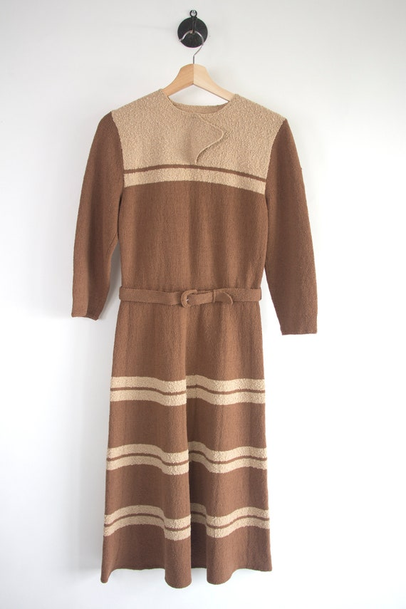 40's Lurex Stripe Sweater Dress w/ Belt
