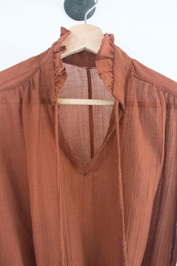 70's Gauzy Cotton Prairie Blouse - image 2