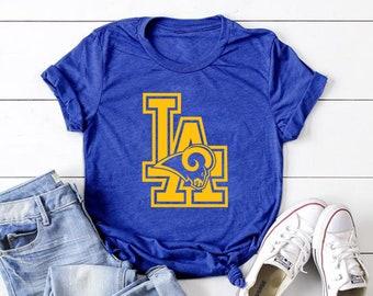 UNISEX LA Rams T-Shirt Los Angeles Rams Football Team Shirt S-6XL db245f5d8