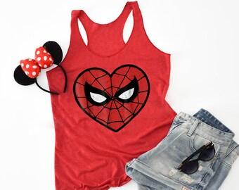 50c21fae483844 Unisex Marvel Spider-Man Logo Tank Top spiderverse spiderman tee spider man  love Valentine s day Valentine shirt into the spider verse