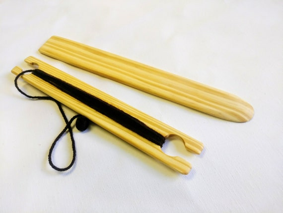 3 Piece 8 inch X 1.5 wide weaving stick shuttle and Pick up stick