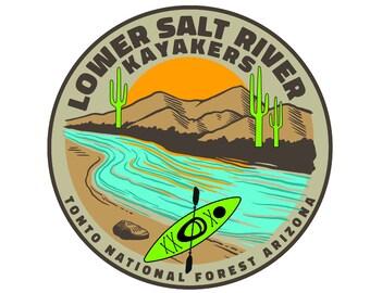 Lower Salt River Kayakers Green Kayak Sticker Tonto National Forest AZ