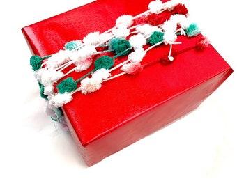 Holographic Silver Tinsel Ribbon  Gift Wrap Ribbon  Gift Packaging  Gift Wrap  Eyelash Ribbon  Christmas Ribbon