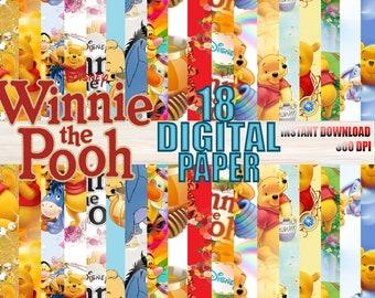 Tarjetas De Winnie De Pooh Etsy