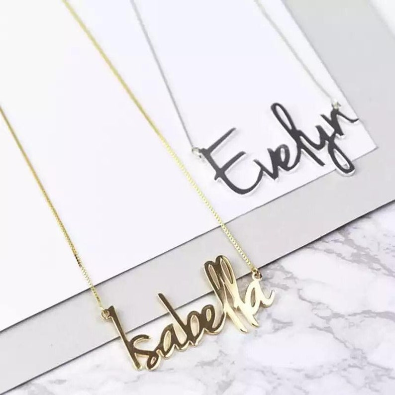 Custom name \u2022 custom name necklace \u2022 custom jewelry \u2022 customized name necklace \u2022 gift for father \u2022 personalised necklace \u2022 name necklace \u2022