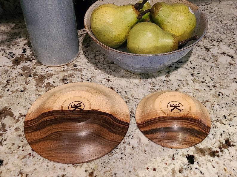 Set of Two English Walnut Dishes