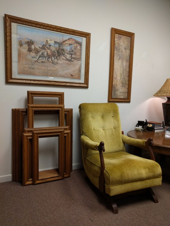 Vintage Solid Wood Picture Frame Custom Made Frame Country Etsy