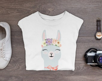 351f0244 Llama Shirt Festival | Hippie Clothing | Flower Crown Design | Graphic Tee  | Hippie Shirt Boho | Spirit Animal Print Tee | Weekend Tees Gift