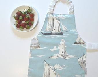 Montessori apron 1-2 years, at the Sea, child sized