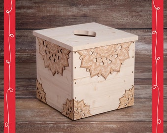 Yoni Spa Box Mandala for vaginal steaming with optional cover