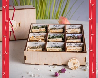 herBox large, 40 steams, vaginal steam herbs, smoke, smudge, yoni steam, Räucherwerk, gift, selfcare