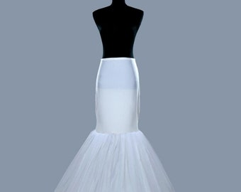 2a37b08f154d5 High Quality Mermaid Bridal Wedding Petticoat Bridal Gown Underskirt for Wedding  Crinoline Slip Accessories
