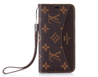 fa9b7ec71ae9 Luxury Louis Vuitton LV Canvas flip wallet Phone Case Cover for iPhone 6 7  8 X XS XR Max Plus High Quality Classic Brown