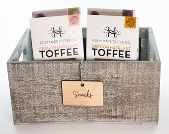 Custom Script Wood Pantry Tags Labels for Kitchen and Pantry Organization | Labels for pantry | Kitchen Tags Labels